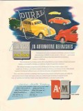 american mariella co 1946 dural automotive refinishes paint vintage ad
