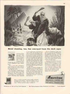 american wheelabrator equipment co 1946 metal cleaning vintage ad