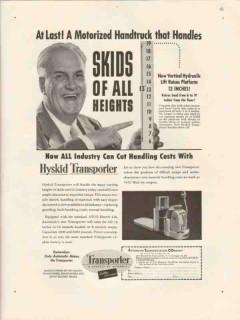 automatic transportation company 1947 handtruck skids vintage ad