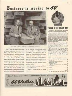 b c electric 1947 pacific pine company paul samuel heller vintage ad