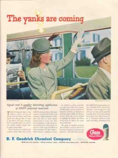 b f goodrich chemical co 1946 yanks jessall plastic inc vintage ad