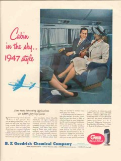 b f goodrich chemical co 1946 cabin sky style polyvinyl vintage ad