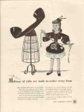 bell telephone system 1947 millions of calls every hour vintage ad