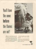 bell telephone system 1947 have news before flames are out vintage ad