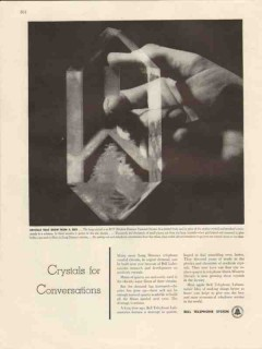bell telephone system 1947 crystals for conversation seed vintage ad