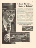 bellanca aircraft corp 1947 i closed the deal cruisair vintage ad
