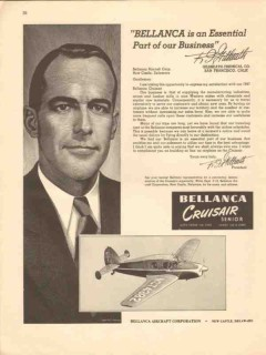 bellanca aircraft corp 1947 gilbreath chemical co essential vintage ad