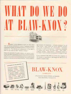 blaw-knox company 1947 what do we do industry production vintage ad