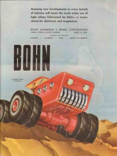 bohn aluminum brass corp 1947 tractor of tomorrow alloy vintage ad