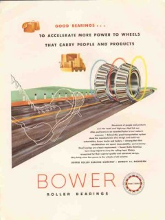 bower roller bearing company 1947 accelerate more power vintage ad