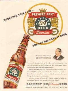 brewers best associates 1947 sherman billingsley stork club vintage ad