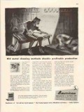 american wheelabrator equipment co 1947 old metal cleaning vintage ad