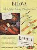 bulova watch company 1947 gift enduring beauty value vintage ad