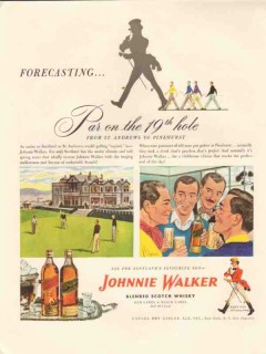 canada dry ginger ale co 1947 par 19th hole johnnie walker vintage ad