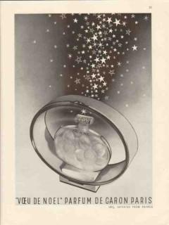 caron corp 1947 voeu de noel parfum imported france perfume vintage ad