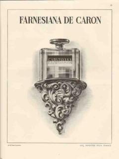 caron corp 1947 farnesiana de parfum imported perfume vintage ad