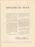 Charles A Koons Inc 1947 Vintage Ad Oil Field Pipelines To Peace
