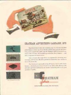 chatham mfg company 1947 advertising campaign 1870 fabrics vintage ad