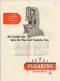 clearing machine corp 1947 straight line saves die wear vintage ad