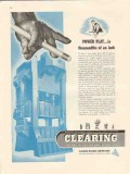 clearing machine corp 1947 power play thousandths of inch vintage ad