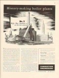 combustion engineering 1947 kips bay ny steam boiler plant vintage ad