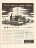 combustion engineering 1947 east river con ed power station vintage ad