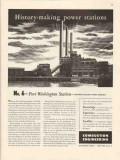 combustion engineering 1947 port washington station power vintage ad