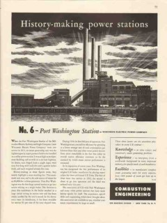 combustion engineering 1947 port washington station power vintage ad