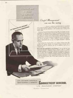 connecticut general life insurance 1947 careful management vintage ad