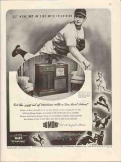 allen b du mont laboratories 1947 life with television vintage ad