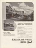 houston pipe line company 1947 alvin beeville tx textile vintage ad