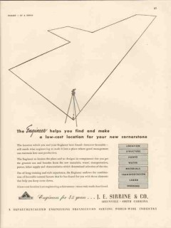 j e sirrine company 1947 engineer helps find make location vintage ad