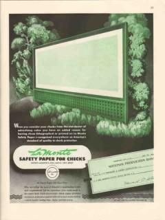 george la monte son 1947 advertising value paper check vintage ad