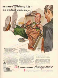 pitney-bowes inc 1947 whatever it is want any postage meter vintage ad