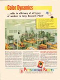 pittsburgh plate glass company 1947 gray research plant vintage ad