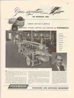 pneumatic scale corp 1947 willis rabbe parker pen company vintage ad