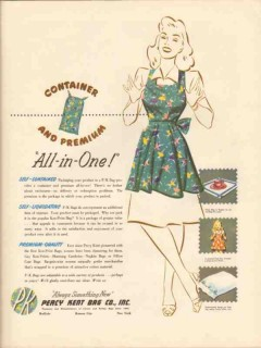 percy kent bag company 1947 container premium all-in-one vintage ad