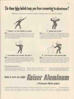 permanente products co 1947 false beliefs convert aluminum vintage ad