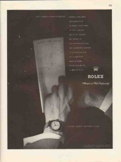 rolex watch company 1947 connoisseurs precision watches vintage ad