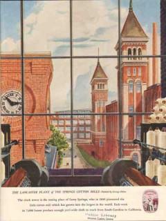 springs cotton mills 1947 lancaster plant sc george erben vintage ad