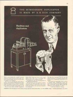 a b dick company 1943 neckties and duplicators mimeograph vintage ad