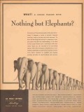 al paul lefton company 1947 elephants media advertising vintage ad
