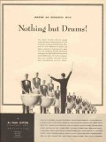 al paul lefton company 1947 drums media advertising vintage ad