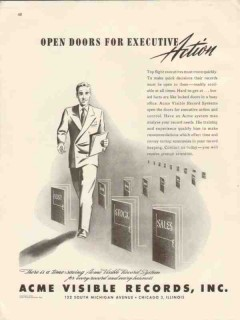 acme visible records inc 1946 open doors executive action vintage ad