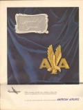 american airlines inc 1947 symbol of service air travel vintage ad