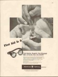 american optical company 1947 first aid second best goggles vintage ad