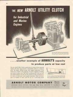arnolt motor company 1947 industrial engine utility clutch vintage ad