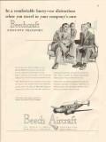 beech aircraft corp 1947 comfortable hurry beechcraft vintage ad