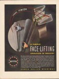 bower roller bearing company 1947 face lifting operation vintage ad