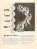 bristol brass corp 1947 strong tireless threads products vintage ad